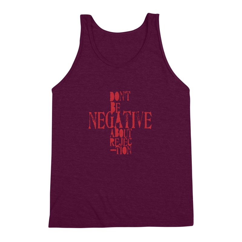 Don't Be Negative Men's Triblend Tank by Alaabahattab's Artist Shop