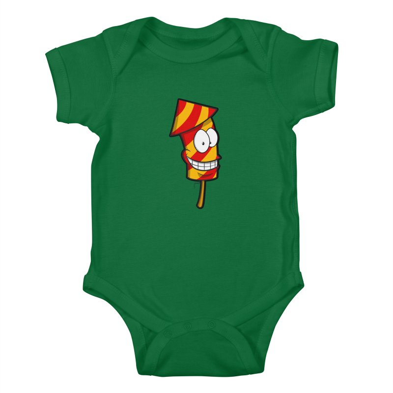 Firework Kids Baby Bodysuit by Alaabahattab's Artist Shop