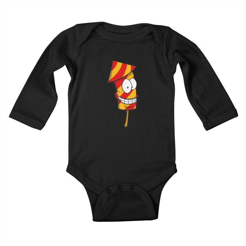 Firework Kids Baby Longsleeve Bodysuit by Alaabahattab's Artist Shop