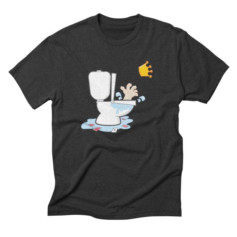 Royal Flush Men's Triblend T-Shirt by Alaabahattab's Artist Shop