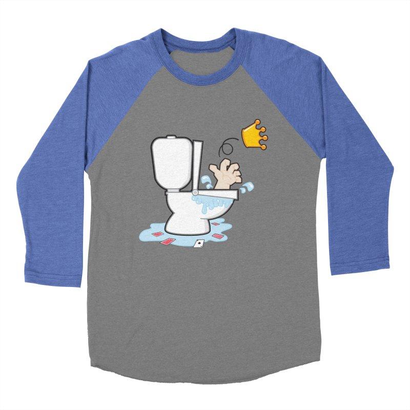 Royal Flush Men's Baseball Triblend T-Shirt by Alaabahattab's Artist Shop