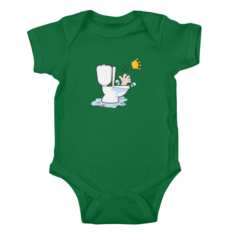 Royal Flush Kids Baby Bodysuit by Alaabahattab's Artist Shop