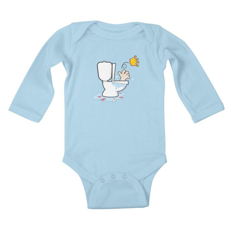Royal Flush Kids Baby Longsleeve Bodysuit by Alaabahattab's Artist Shop