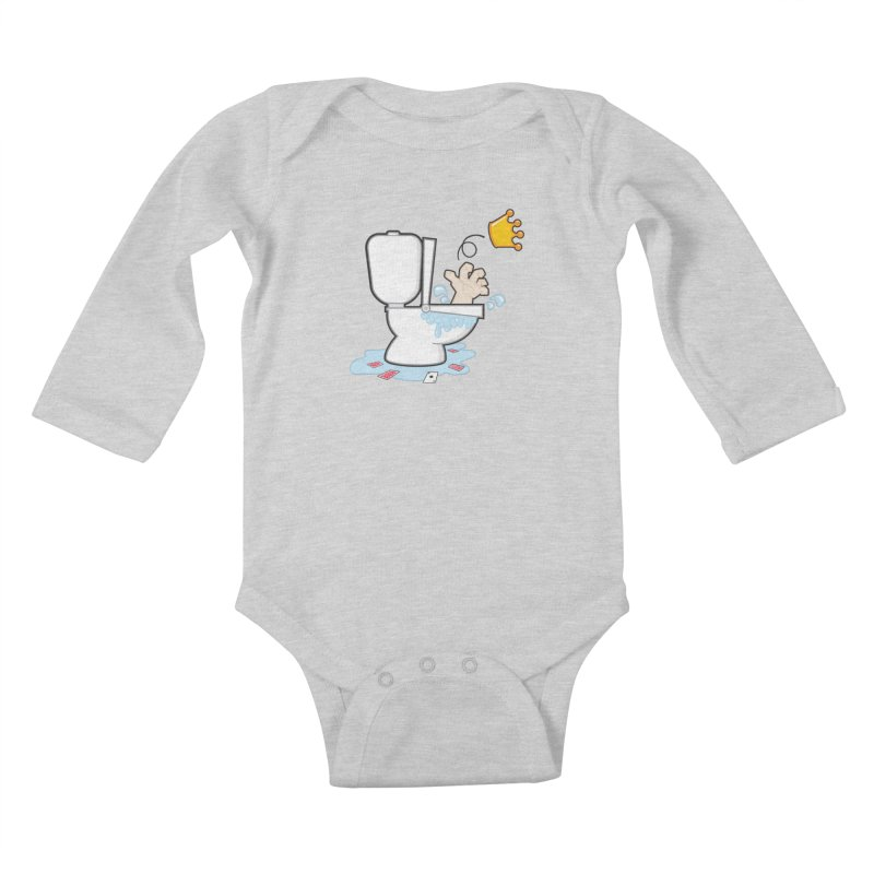 Royal Flush Kids Baby Longsleeve Bodysuit by Alaabahattab's Artist Shop