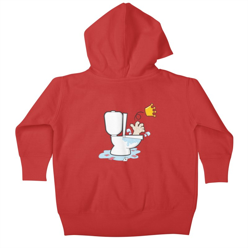 Royal Flush Kids Baby Zip-Up Hoody by Alaabahattab's Artist Shop