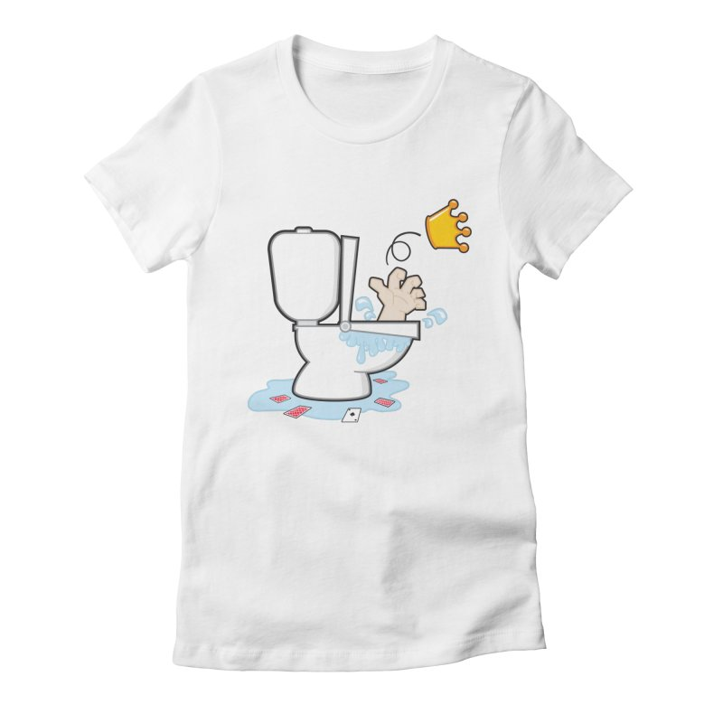 Royal Flush Women's Fitted T-Shirt by Alaabahattab's Artist Shop