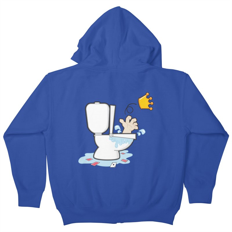 Royal Flush Kids Zip-Up Hoody by Alaabahattab's Artist Shop