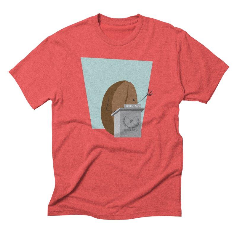 Coffee Anan Men's Triblend T-Shirt by Alaabahattab's Artist Shop