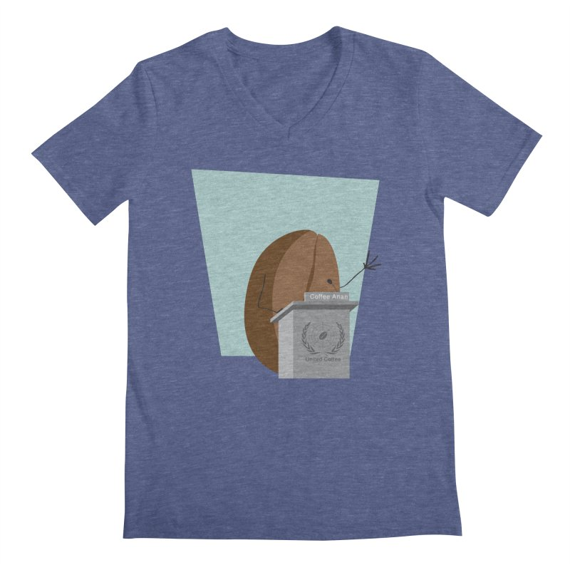 Coffee Anan Men's V-Neck by Alaabahattab's Artist Shop