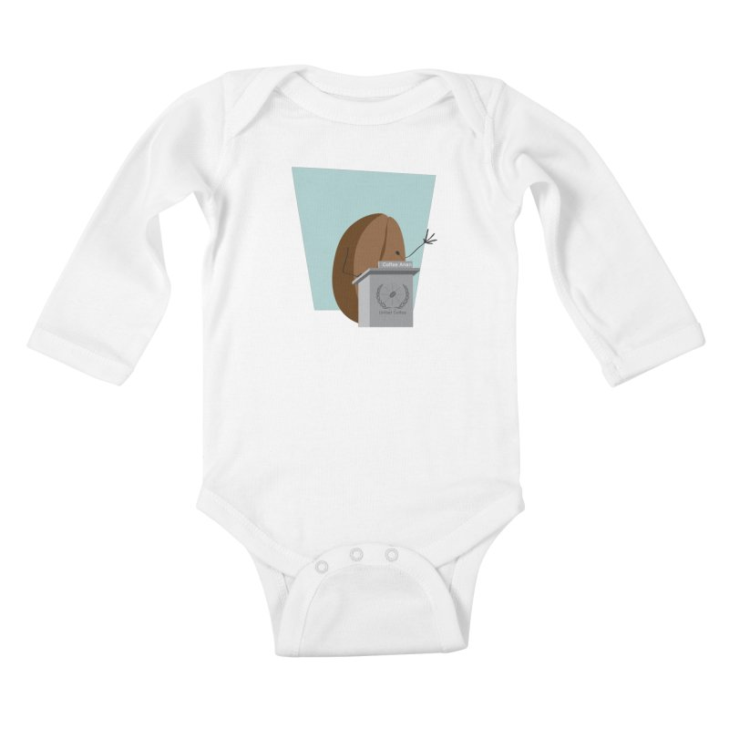 Coffee Anan Kids Baby Longsleeve Bodysuit by Alaabahattab's Artist Shop
