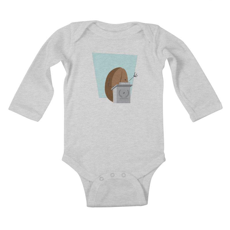 Coffee Anan Kids Baby Longsleeve Bodysuit by Alaabahattab's Artist Shop