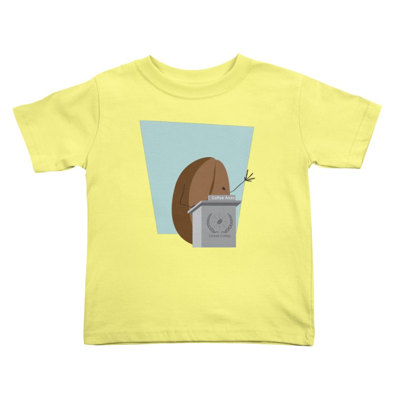 Coffee Anan Kids Toddler T-Shirt by Alaabahattab's Artist Shop