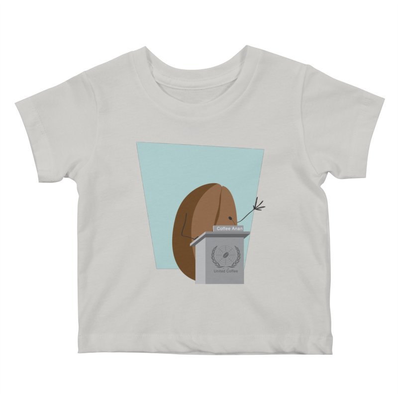Coffee Anan Kids Baby T-Shirt by Alaabahattab's Artist Shop