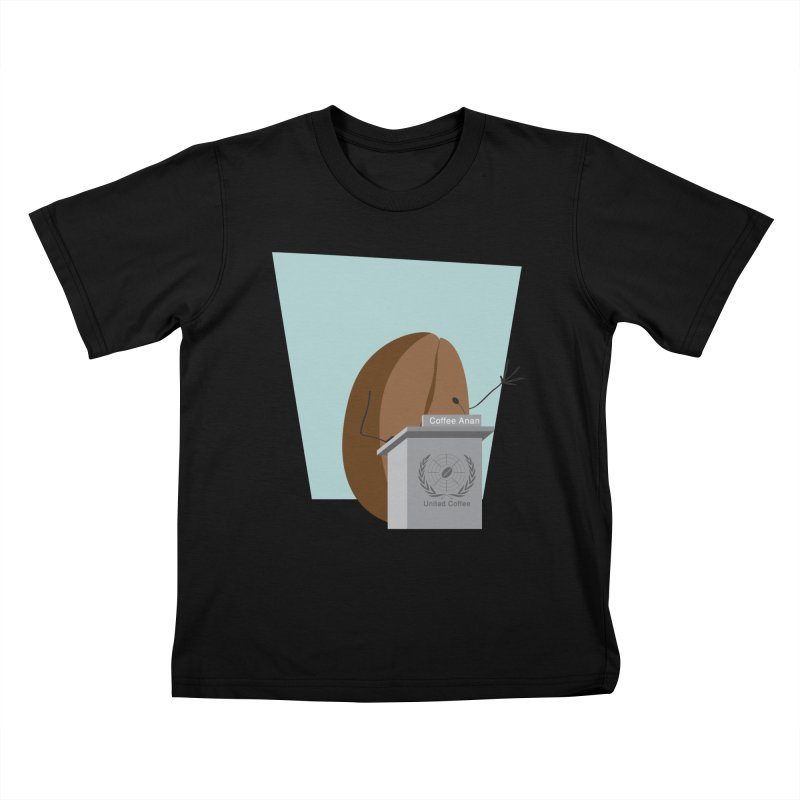 Coffee Anan Kids T-Shirt by Alaabahattab's Artist Shop
