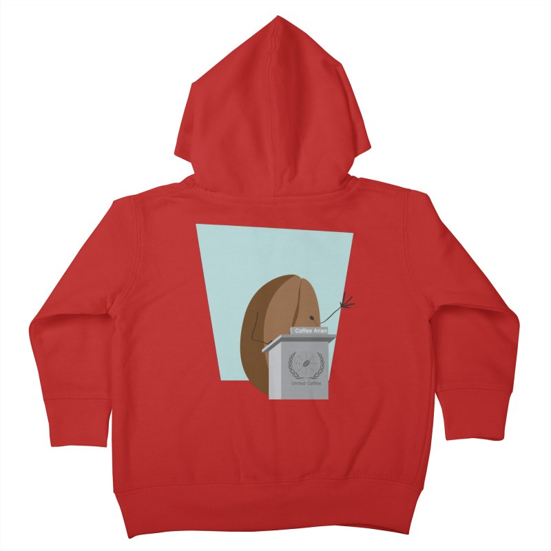 Coffee Anan Kids Toddler Zip-Up Hoody by Alaabahattab's Artist Shop