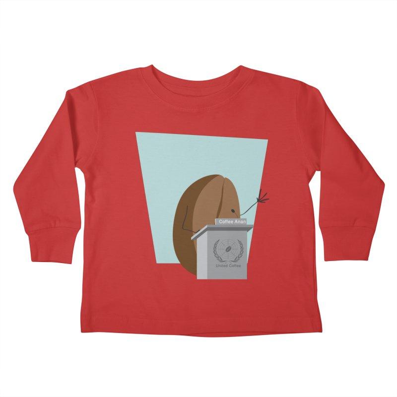 Coffee Anan Kids Toddler Longsleeve T-Shirt by Alaabahattab's Artist Shop