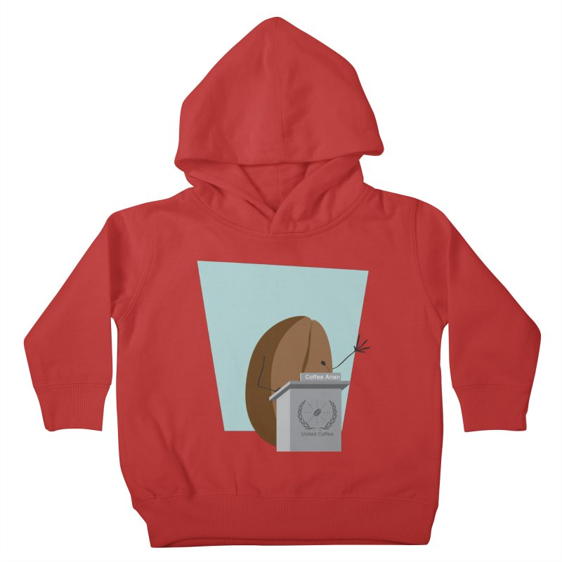 Coffee Anan Kids Toddler Pullover Hoody by Alaabahattab's Artist Shop
