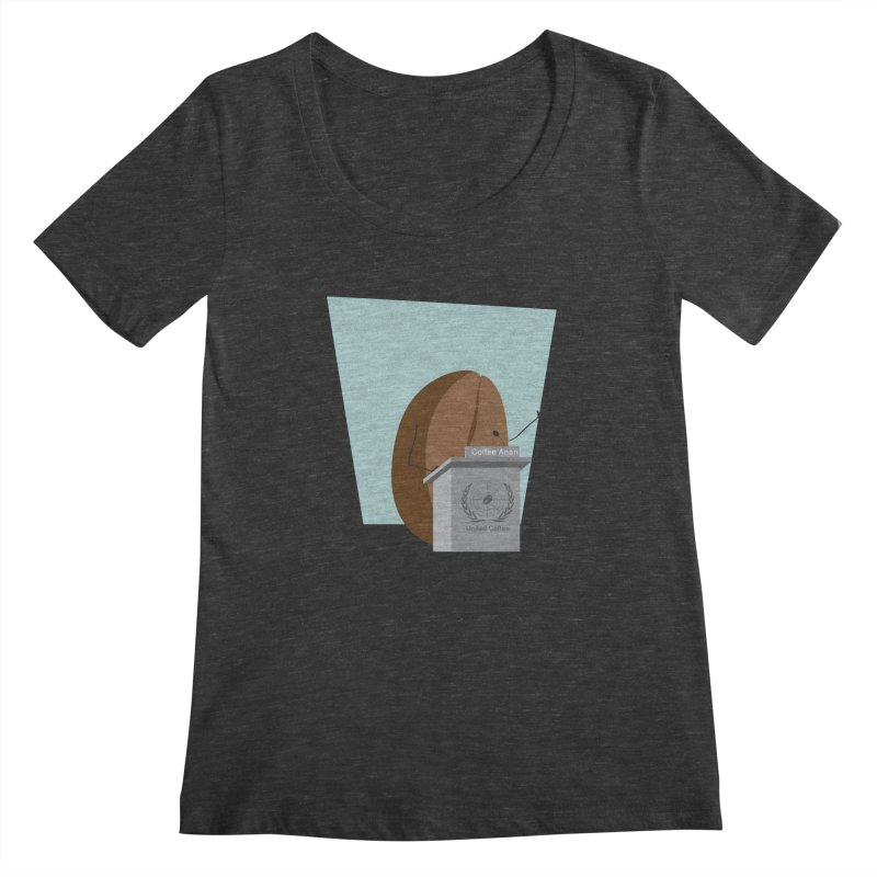 Coffee Anan Women's Scoopneck by Alaabahattab's Artist Shop