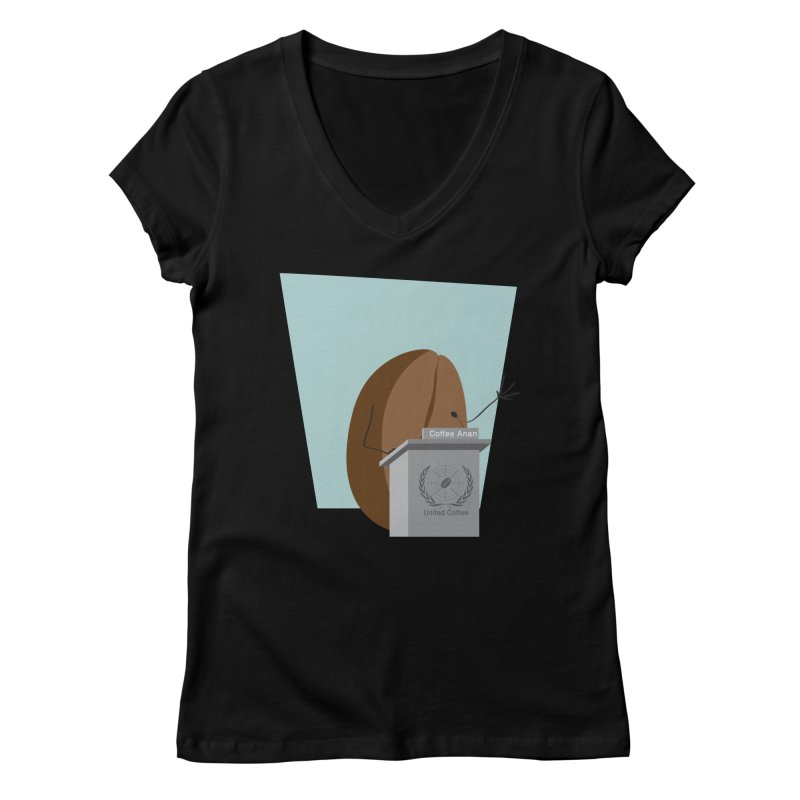 Coffee Anan Women's V-Neck by Alaabahattab's Artist Shop