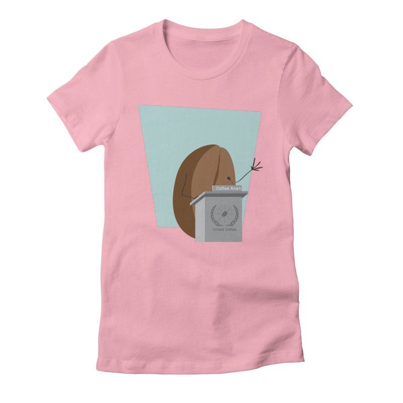 Coffee Anan Women's Fitted T-Shirt by Alaabahattab's Artist Shop