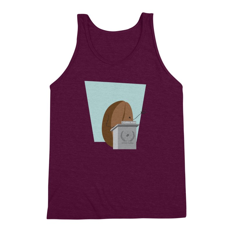 Coffee Anan Men's Triblend Tank by Alaabahattab's Artist Shop