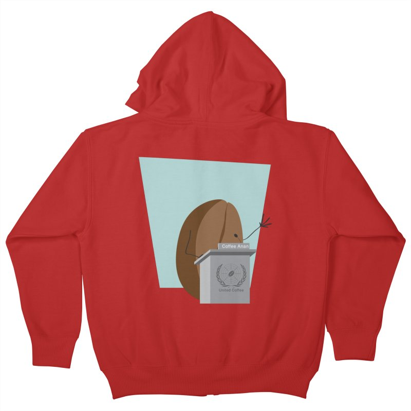 Coffee Anan Kids Zip-Up Hoody by Alaabahattab's Artist Shop