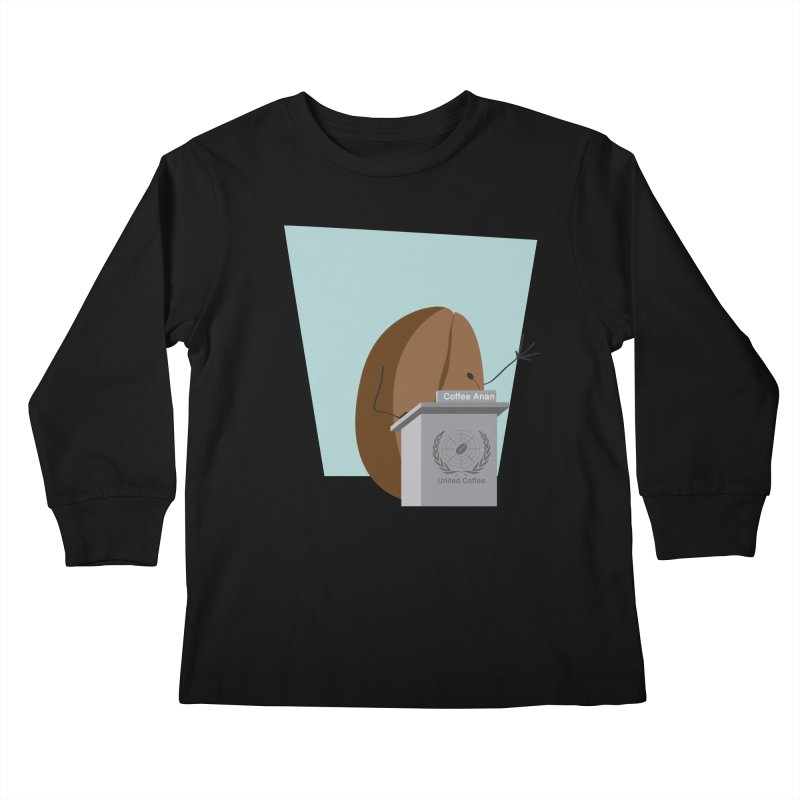 Coffee Anan Kids Longsleeve T-Shirt by Alaabahattab's Artist Shop