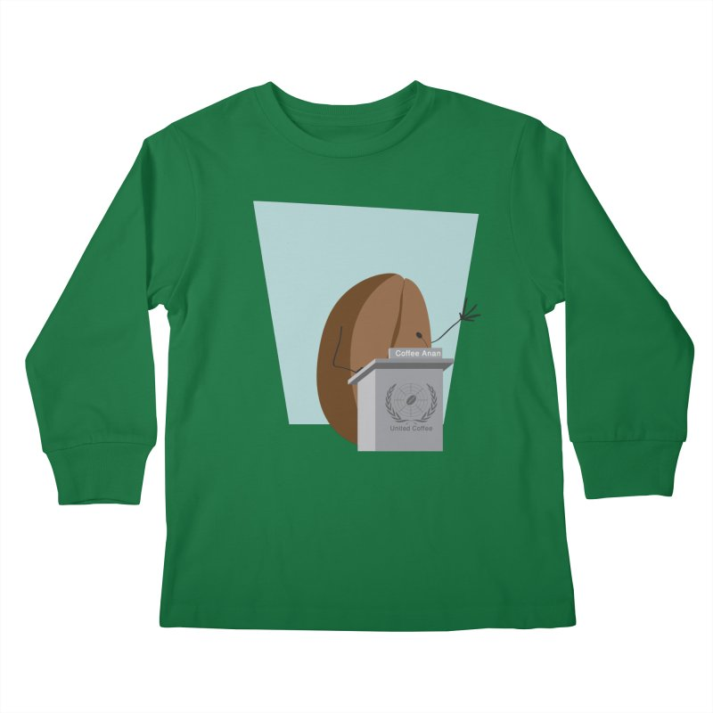 Coffee Anan Kids Longsleeve T-Shirt by Alaabahattab's Artist Shop