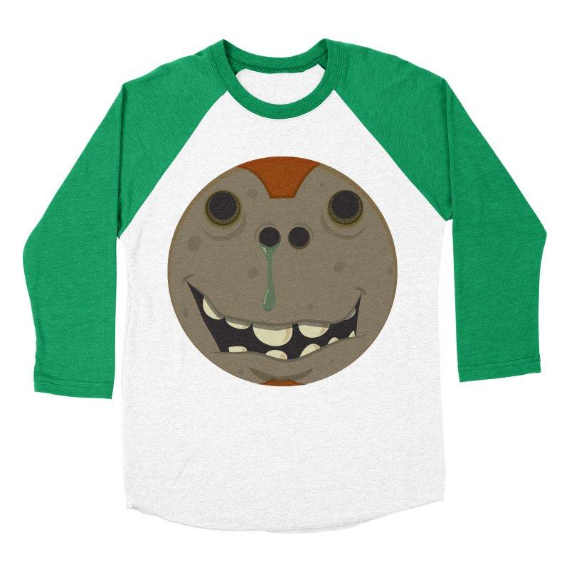 Booger face Women's Baseball Triblend T-Shirt by Alaabahattab's Artist Shop