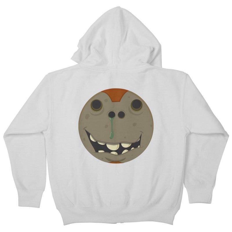 Booger face Kids Zip-Up Hoody by Alaabahattab's Artist Shop
