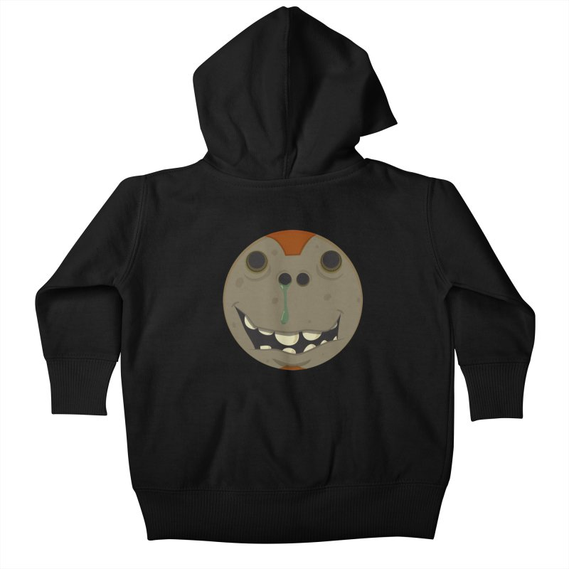 Booger face Kids Baby Zip-Up Hoody by Alaabahattab's Artist Shop