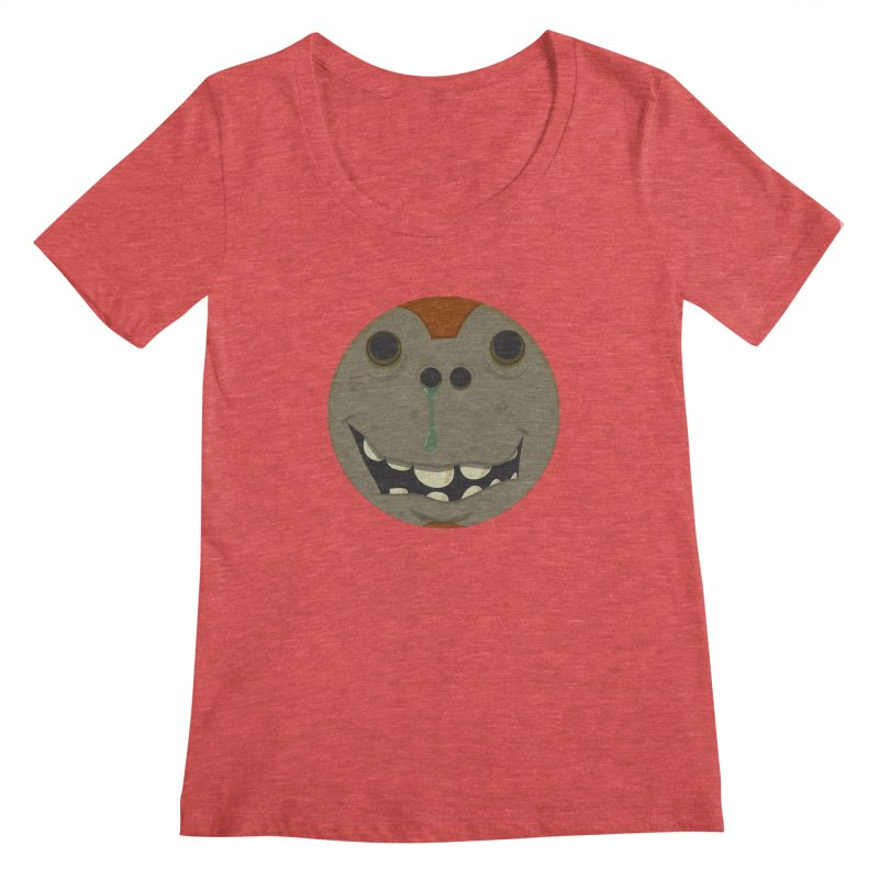 Booger face Women's Scoopneck by Alaabahattab's Artist Shop