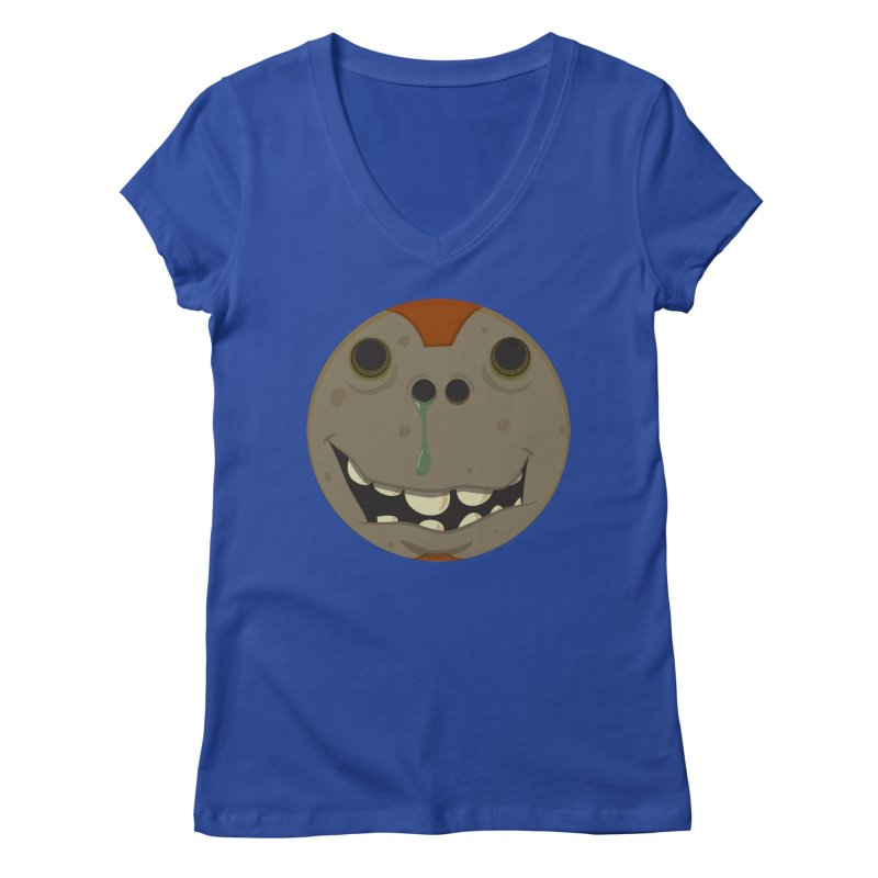 Booger face Women's V-Neck by Alaabahattab's Artist Shop