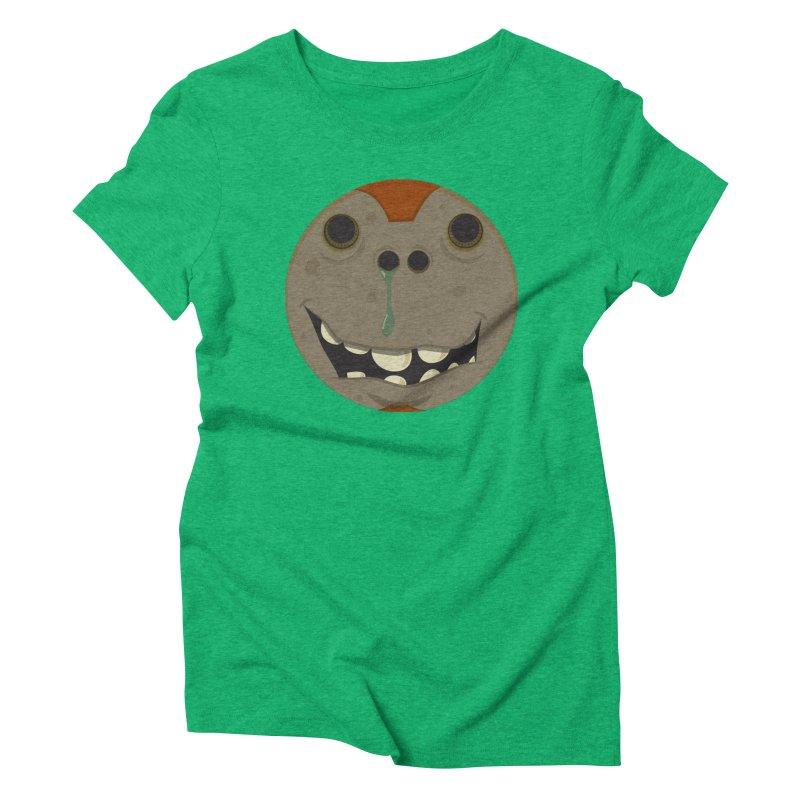 Booger face Women's Triblend T-shirt by Alaabahattab's Artist Shop