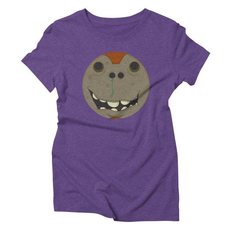 Booger face Women's Triblend T-shirt by Alaabahattab's Artist Shop