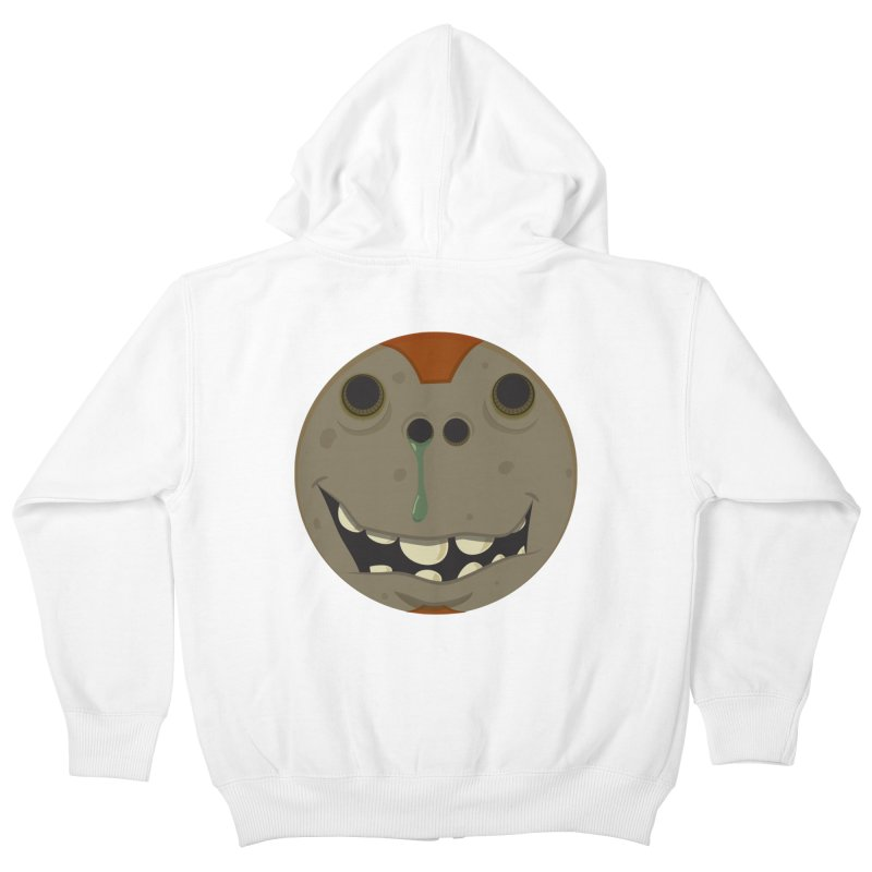 Booger face Kids Zip-Up Hoody by Alaabahattab's Artist Shop