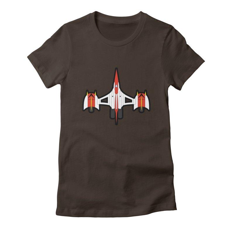 UFO KABOTU Women's Fitted T-Shirt by Alaabahattab's Artist Shop