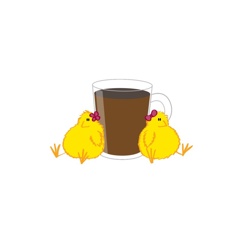 2 chicks 1 cup None  by Alaabahattab's Artist Shop