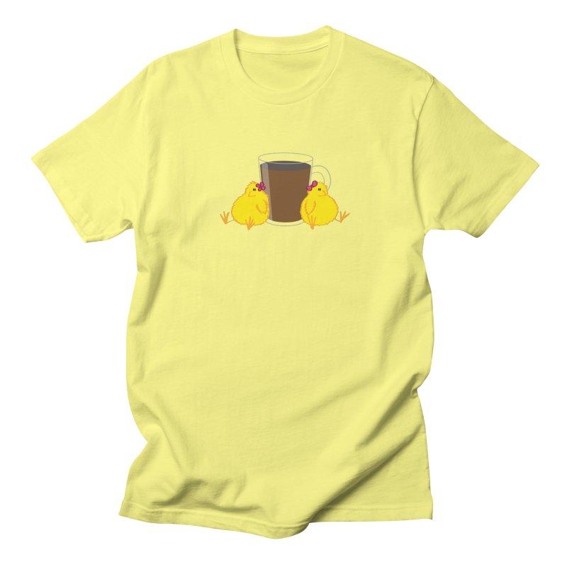 2 chicks 1 cup Men's T-Shirt by Alaabahattab's Artist Shop