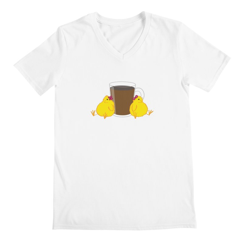 2 chicks 1 cup Men's V-Neck by Alaabahattab's Artist Shop