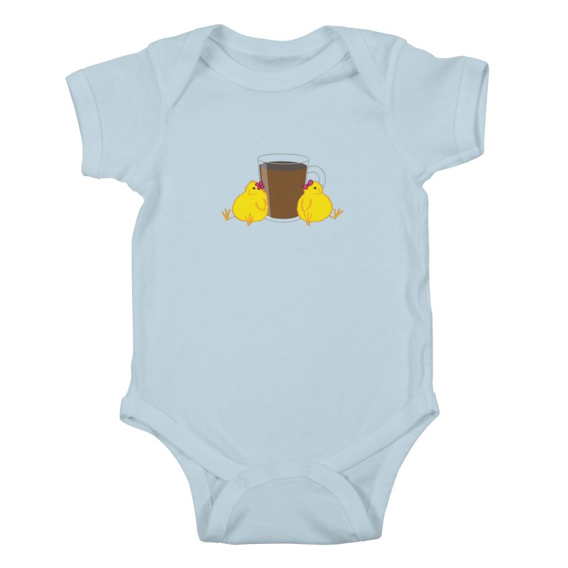 2 chicks 1 cup Kids Baby Bodysuit by Alaabahattab's Artist Shop