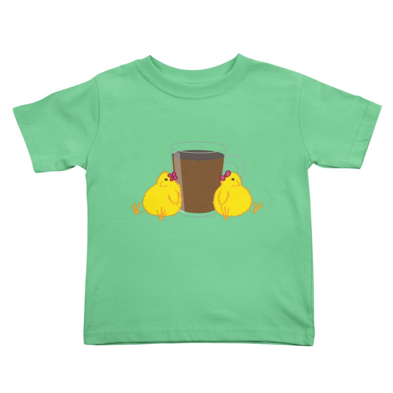2 chicks 1 cup Kids Toddler T-Shirt by Alaabahattab's Artist Shop