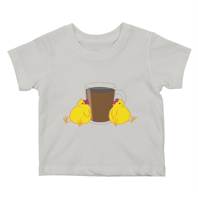 2 chicks 1 cup Kids Baby T-Shirt by Alaabahattab's Artist Shop