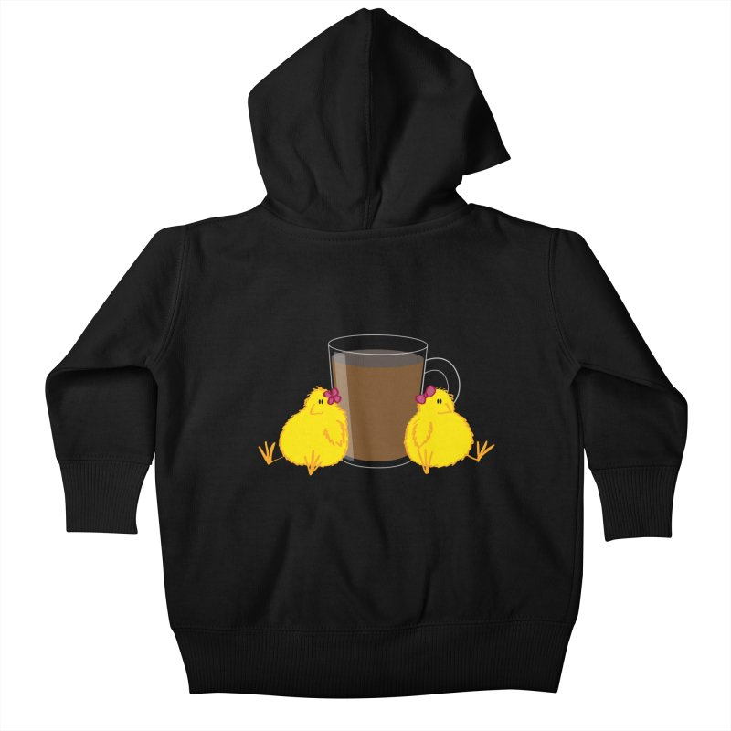 2 chicks 1 cup Kids Baby Zip-Up Hoody by Alaabahattab's Artist Shop