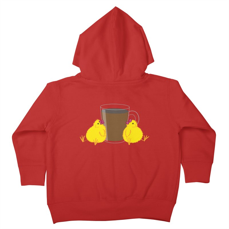 2 chicks 1 cup Kids Toddler Zip-Up Hoody by Alaabahattab's Artist Shop
