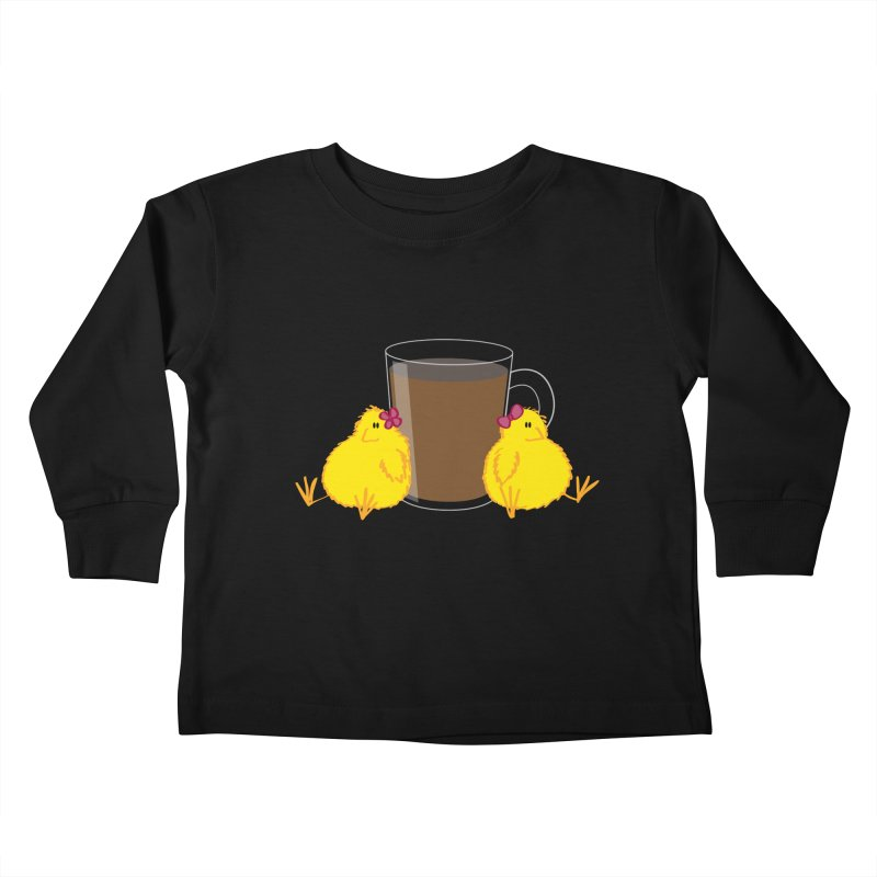 2 chicks 1 cup Kids Toddler Longsleeve T-Shirt by Alaabahattab's Artist Shop