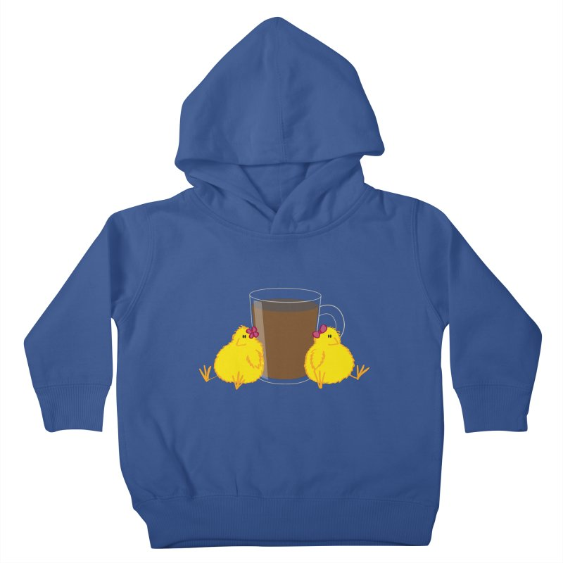 2 chicks 1 cup Kids Toddler Pullover Hoody by Alaabahattab's Artist Shop