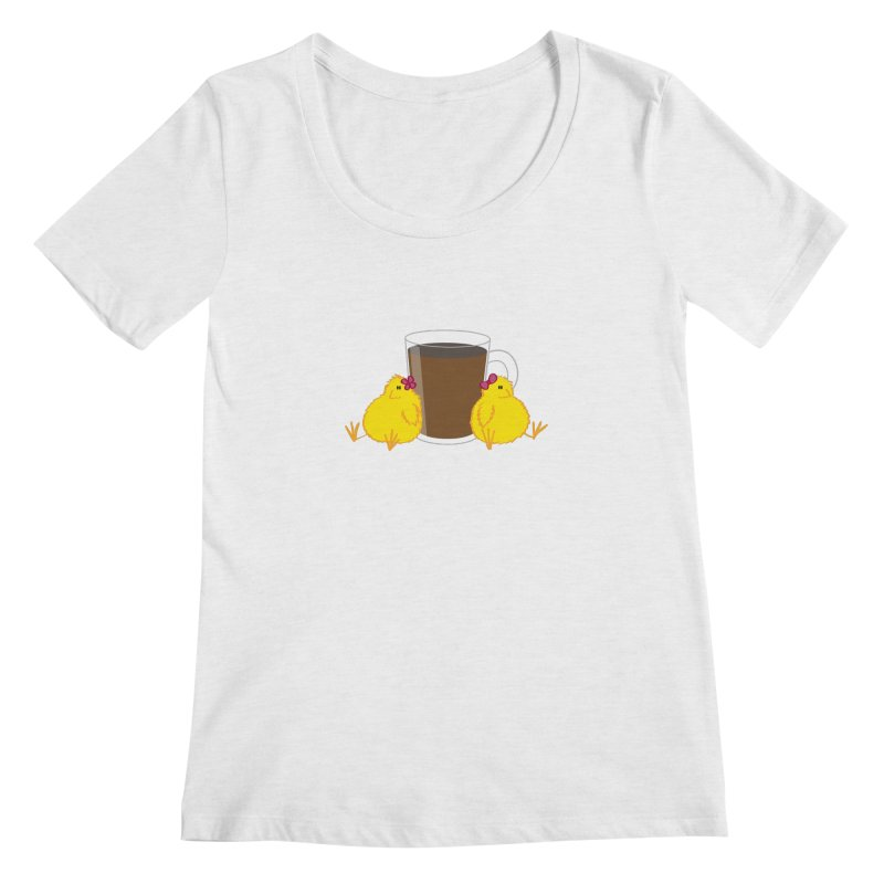 2 chicks 1 cup Women's Scoopneck by Alaabahattab's Artist Shop
