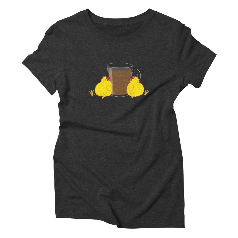 2 chicks 1 cup Women's Triblend T-shirt by Alaabahattab's Artist Shop