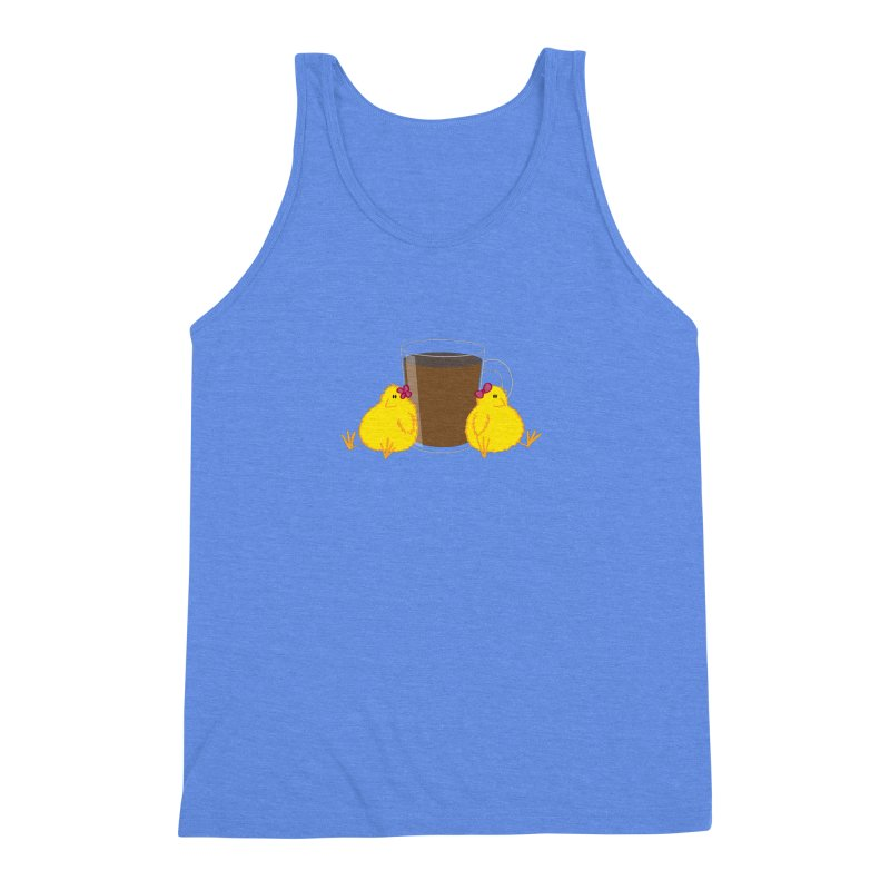 2 chicks 1 cup Men's Triblend Tank by Alaabahattab's Artist Shop